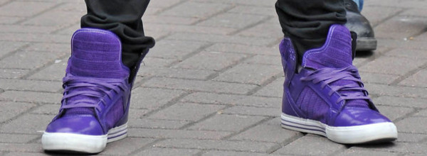 shoes supra skytops? purple tongues shiny justin bieber