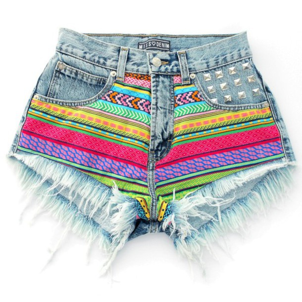 Shorts: shorts with spikes, shorts high waisted ying yang tie dye ...