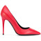 Tom ford - pointed toe pumps - women - calf leather/leather - 41, red, calf leather/leather