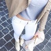 shoes,louis vuitton,luxery,white crop tops,jeans,blouse,bag,jacket,skinny jeans,white jeans,white skinny jeans,grey t-shirt,grey crop top,leather jacket,underwear,jumpsuit