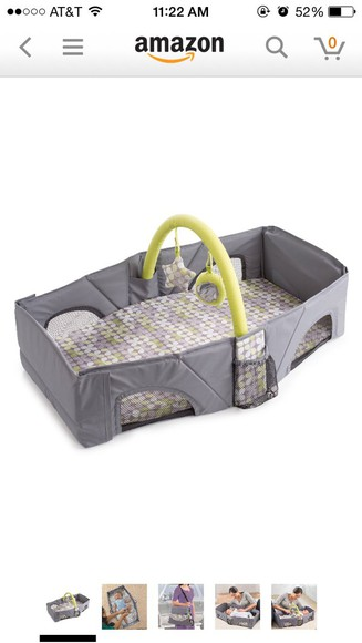 bag 3 in one diaper bag/ travel bed