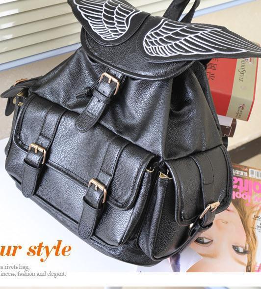 Cute wings fashion backpack bag