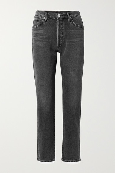 Goldsign - The Benefit High-rise Straight-leg Jeans - Dark gray - The Benefit High-rise Straight-leg Jeans