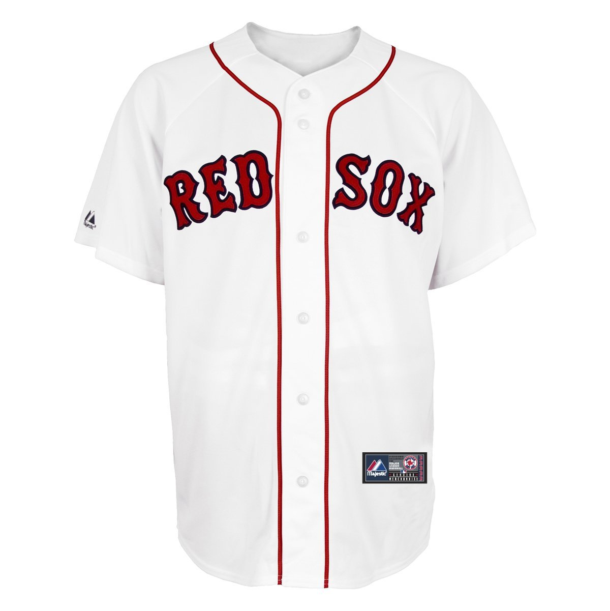 Amazon.com: mlb boston red sox home replica jersey, white: sports & outdoors