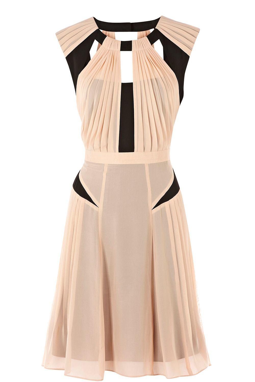 Warehouse pink blush maxi dress