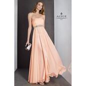 dress,bejeweled choker,gold waistband,open back dresses,long dress,black dress