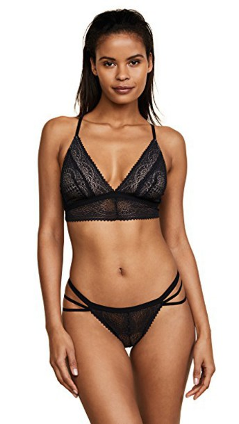 bralette triangle black underwear