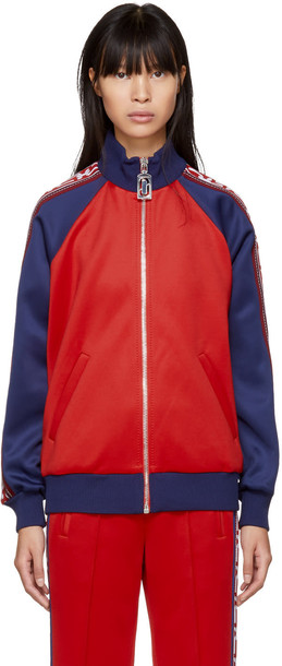 jacket navy red