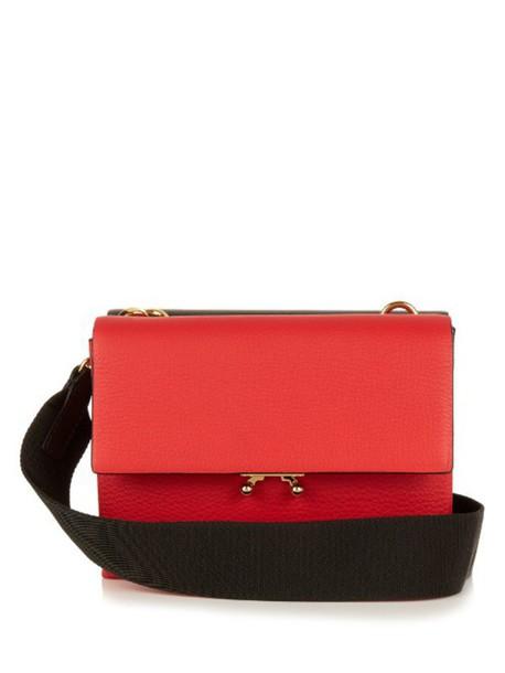 MARNI cross bag black red