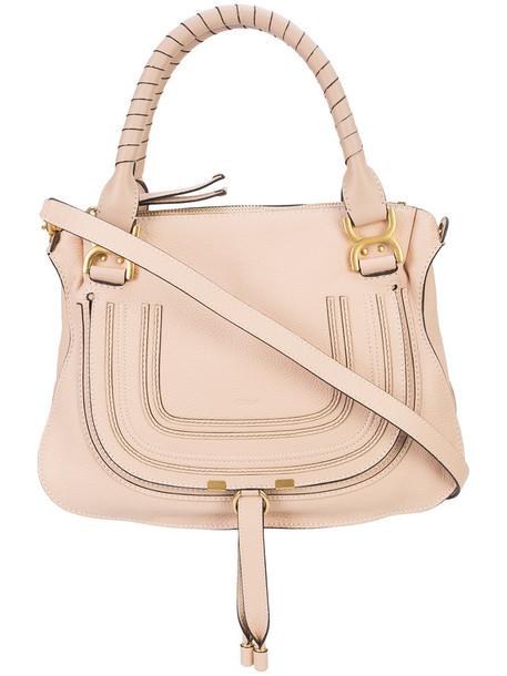 Chloe women bag tote bag leather cotton purple pink