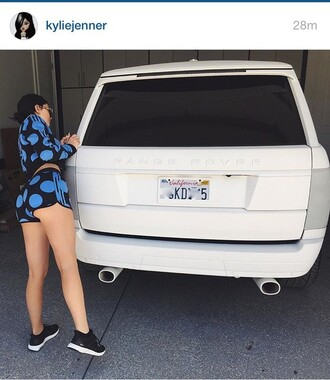 shirt kylie jenner shorts adidas polka dots blue shorts shoes suit black sneakers jacket set mini shorts kylie jenner sneakers tracksuit adidas originals blue t-shirt two-piece short shorts long sleeves blue sweater black sneakers nike shoes summer outfits