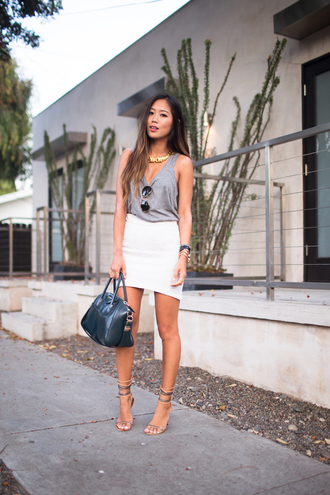 song of style tank top skirt jewels shoes bag