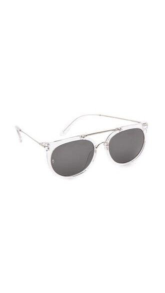 clear sunglasses silver grey