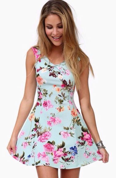 dress floral fashion blue dress floral dress dress, vintage, floral, summer, mint, indie, hippie, hipster, summer dress summer outfits classy dress classic floral high heels pink dress skirt high heels summer top