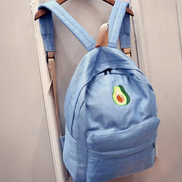 821c65829cc bag girl girly girly wishlist denim denim backpack denim backback avocado  backpack backpack