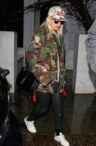 jacket adidas originals rita ora sunglasses shoulder bag bag shoes jeremy scott black shoulder bag camo jacket cap leather jacket