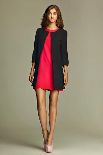 coat black blazer long coat