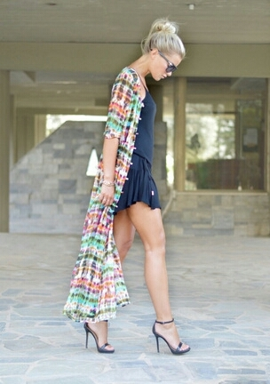 Lethalbeauty ? colorful tie dye long cardigan dress