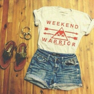 shirt weekend warrior accessories bracelets