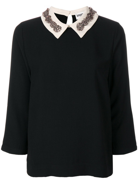 ESSENTIEL ANTWERP blouse women embellished black top