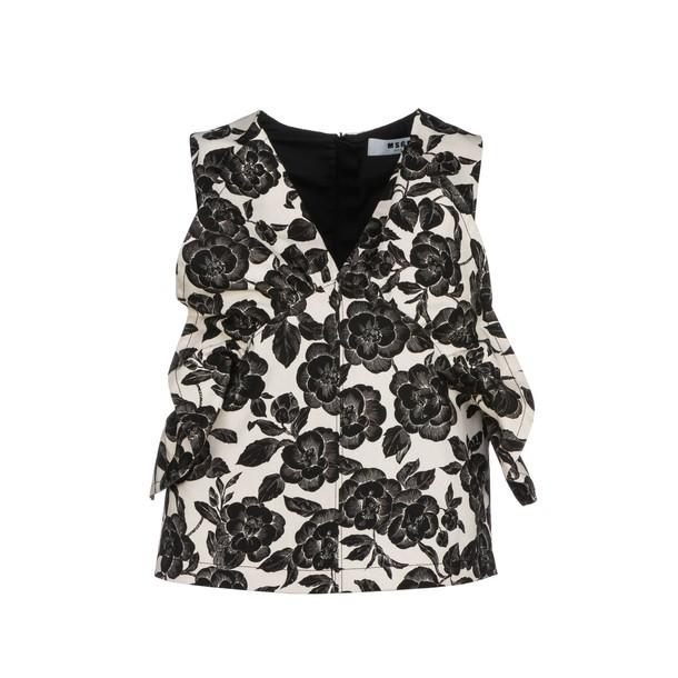 MSGM blouse floral print top