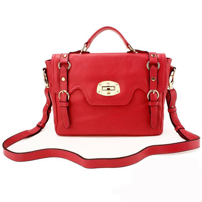 Vintage messenger satchel real leather bag