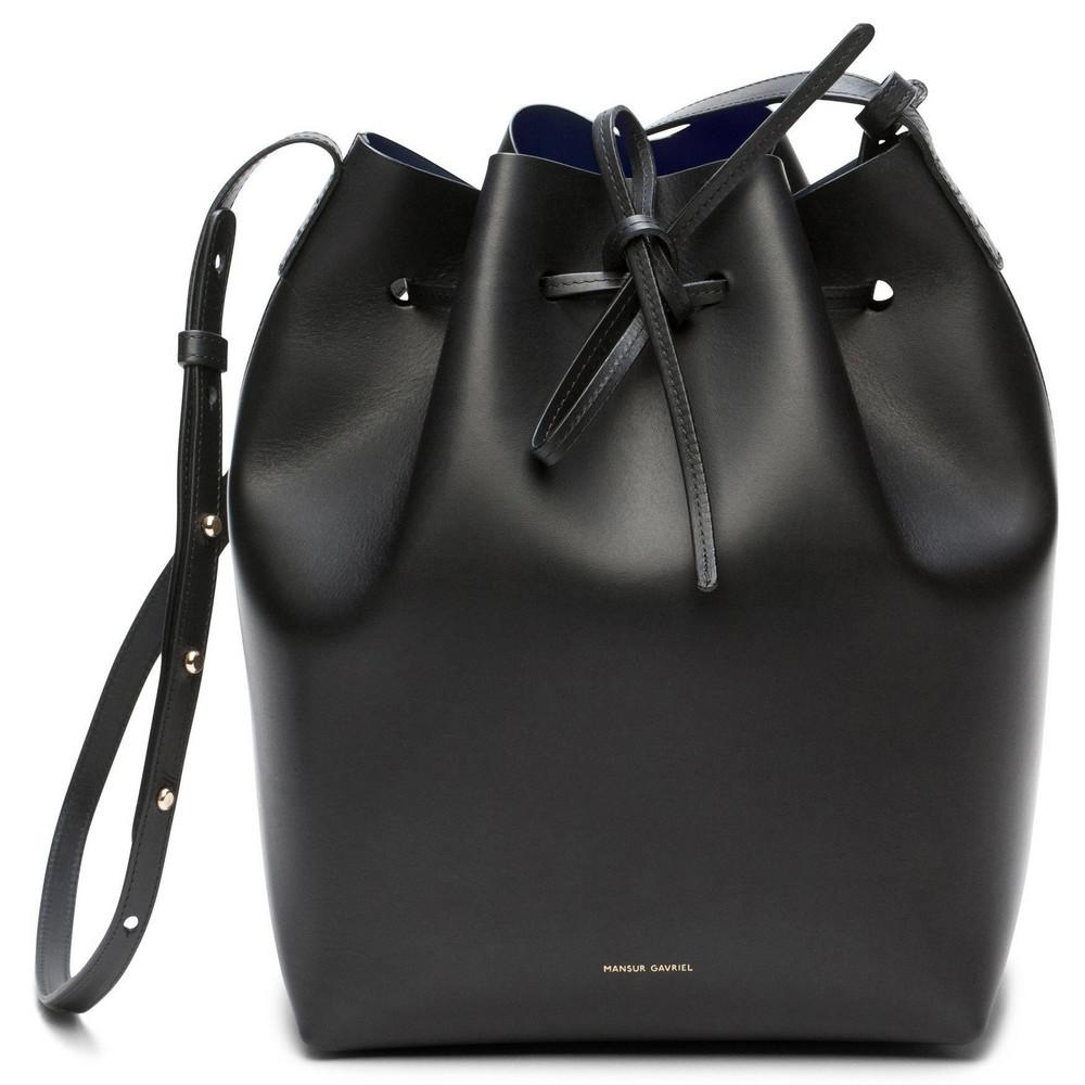Mansur Gavriel Black Bucket Bag - Flamma