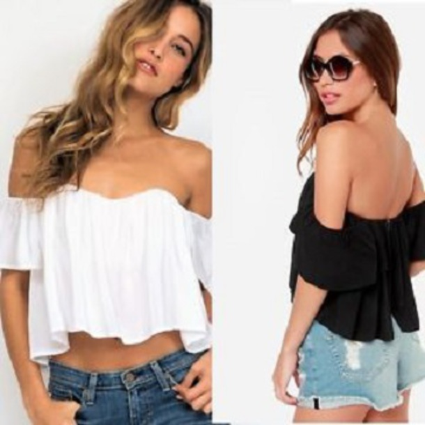 top clothes crop tops white top sleeveless top