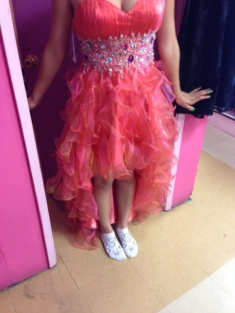 dress cute dress sparkley high low prom dresses prom dress