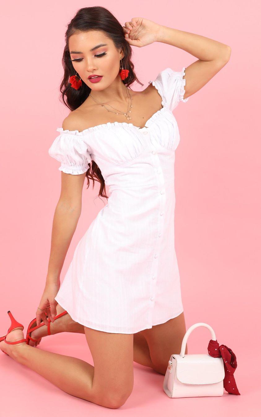 Showpo Reflection Of Spirit Dress in white - 8 (S) Dresses