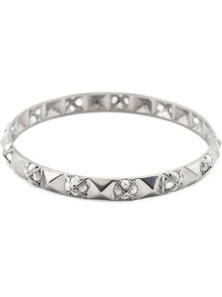 Loree Rodkin women gold white grey metallic jewels
