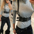 Women's Stylish Thongs Vest Sexy Swordbelt Poloneck Top