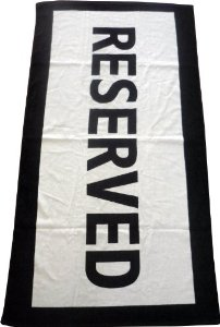 Amazon.com - Reserved Beach Towel - Bath Towels