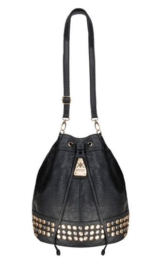 bag black bag handbag bucket bag