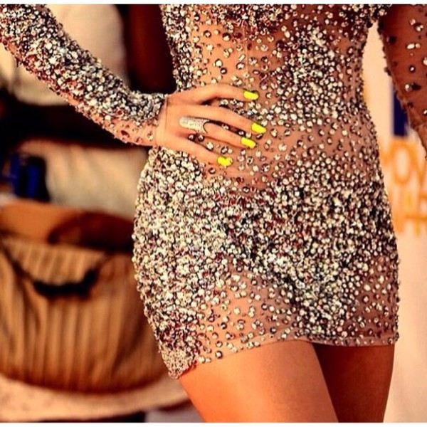 dress beautiful diamonds dress