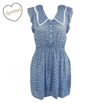 Rabbit print peter pan collar dress