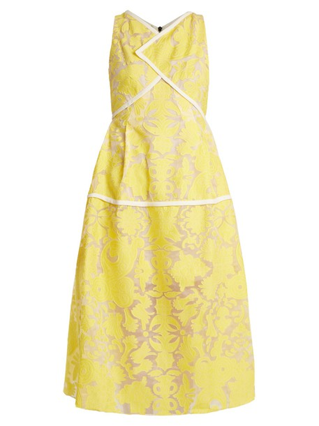 dress floral yellow