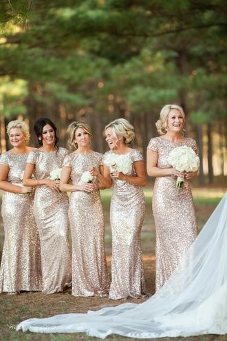 dress bridesmaid glitter glitter dress wedding
