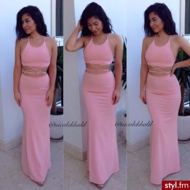 maxi dress girly sexy dress pink sexy dress pink dress