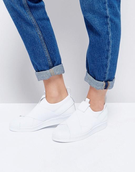 adidas Originals Superstar Slip On White Trainers