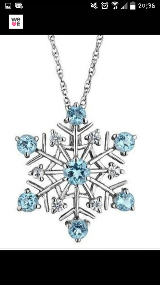 jewels snowflake necklace acsessories snowflake