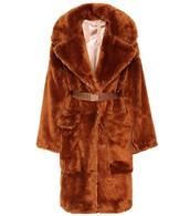 coat,faux fur coat,fur coat,fur,faux fur,brown
