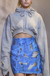 top,cropped hoodie,runway,fashion,haute couture,high,high fashiion,runway fashion,killin it hoodie