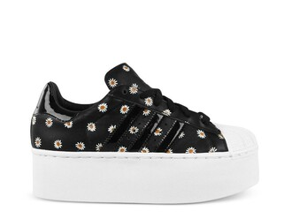 shoes adidas daisy adidas shoes platform shoes addidas platforms black and white grunge flower shoes small platform opening ceremony