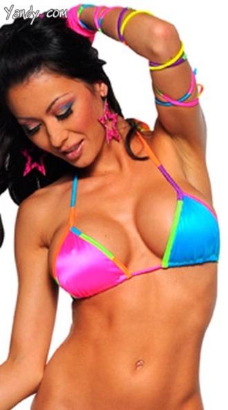 swimwear rainbow color