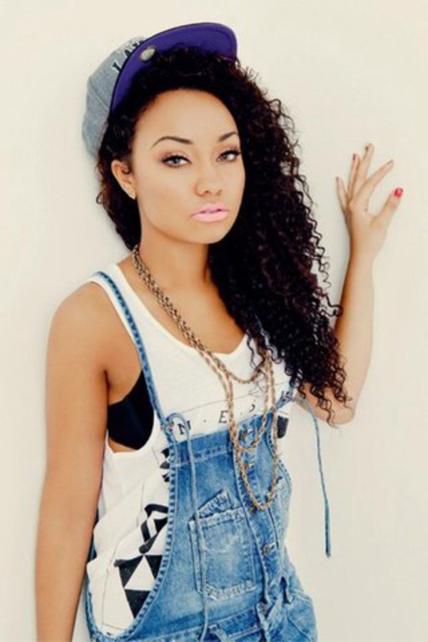 jumpsuit girly leigh-anne pinnock little mix t-shirt jewels hat