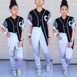 jacket pants dope white and black jacket jersey black and white blouse black jersey