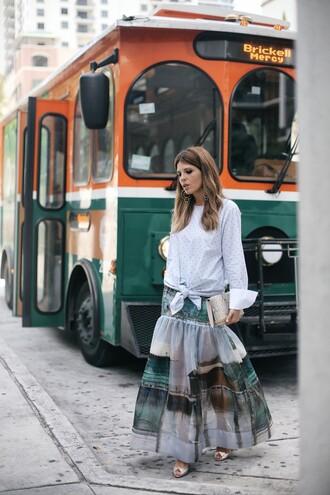 blouse tumblr blue top stripes striped top skirt maxi skirt long skirt