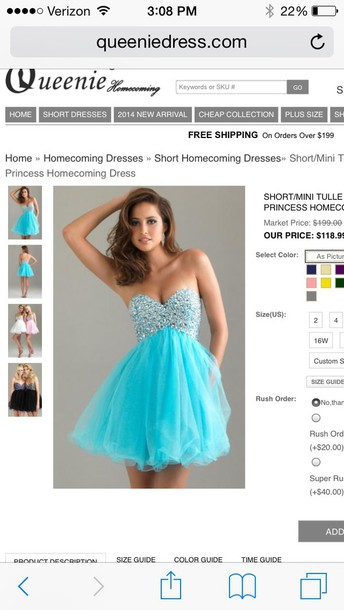 dress blue spakles homecoming dress