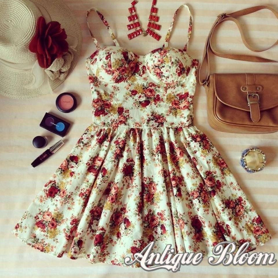 Antique bloom bustier dress from lovelaceys on storenvy